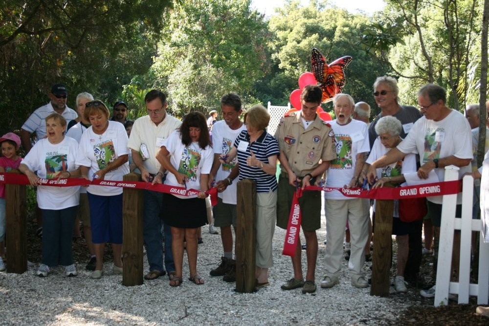 Butterfly Garden Ribbon Cutting