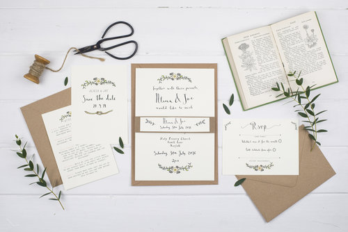 Wildflower illustration co wedding stationery bespoke alicia wedding invitation junglespirit