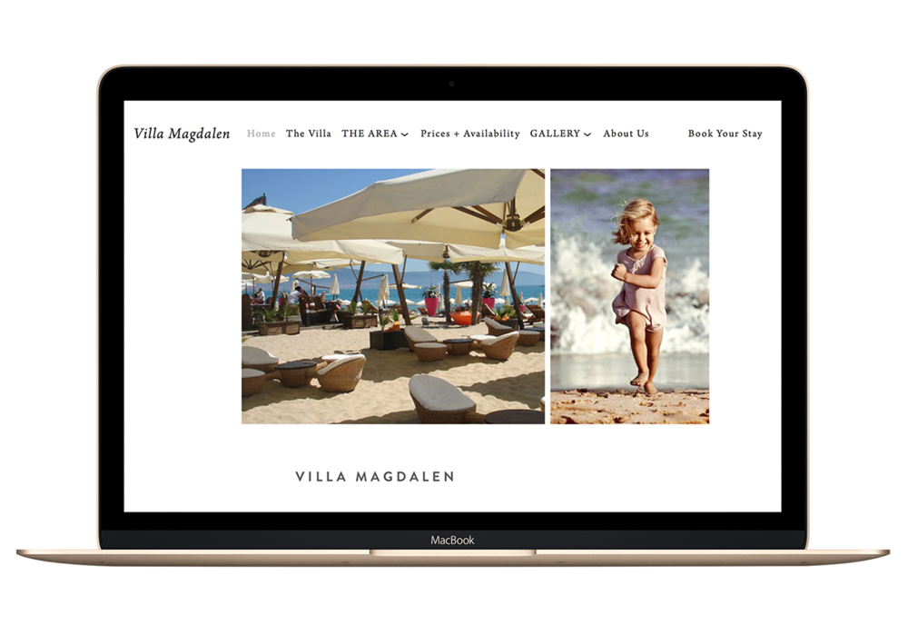 Website design for a Holiday Villa