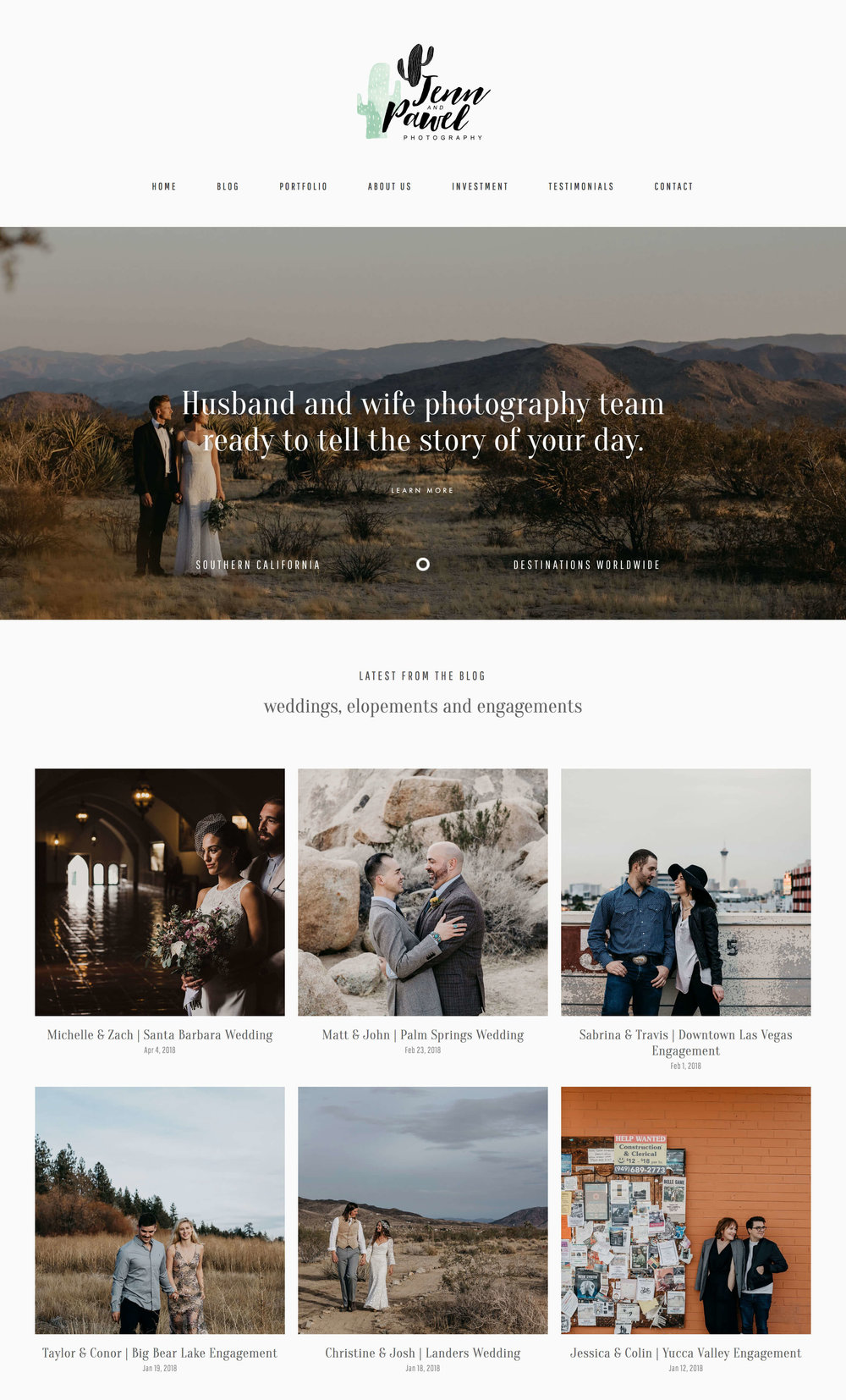 Jenna and Pawel Photography site built with Minima design kit for Squarespace sites. Modern designs for Creative Businesses on Squarespace.