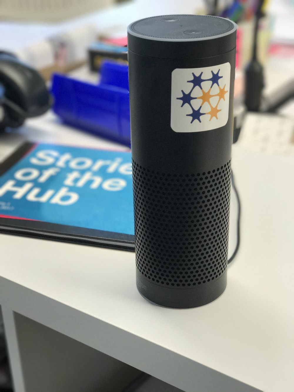 our digital pal - this Echo sits in our team's space and spits out jams all day long!