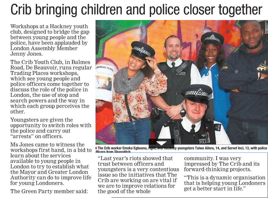 An article from Hackney Gazette.