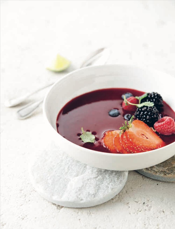 Petite soupe de fruits des bois • Red fruits soup