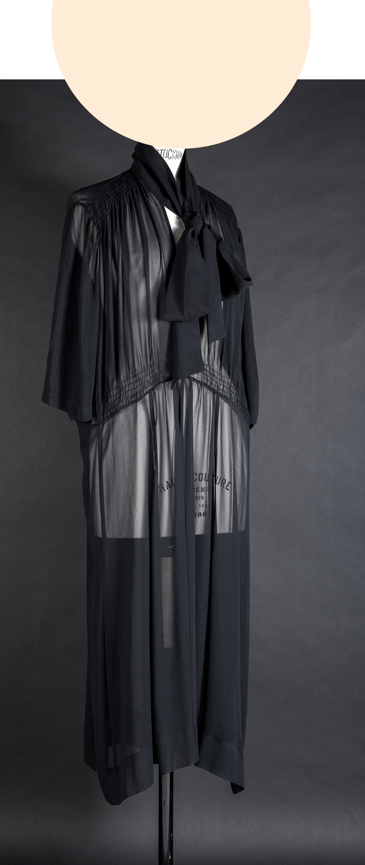 DRESS ltd OVERSIZE BLACK SILK Tie Neck Dress, from NEW BLACK CAPSULE COLLECTION