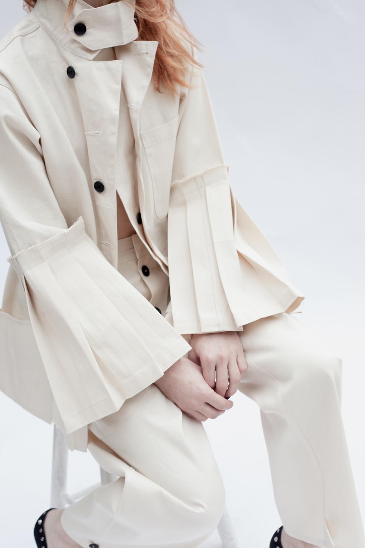 DRESS label Crisis Collection 2017 White Split Overall set detail dress-ltd
