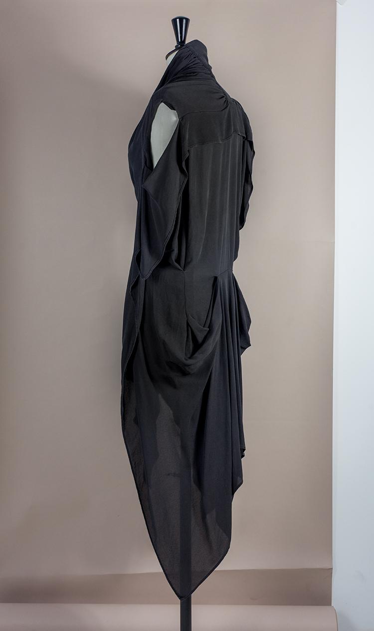 DRESS Black Phase Collection SS16 Black Wash Archive ASYMMETRIC TWISTED HALF COCKTAIL DRESS Dress-Ltd