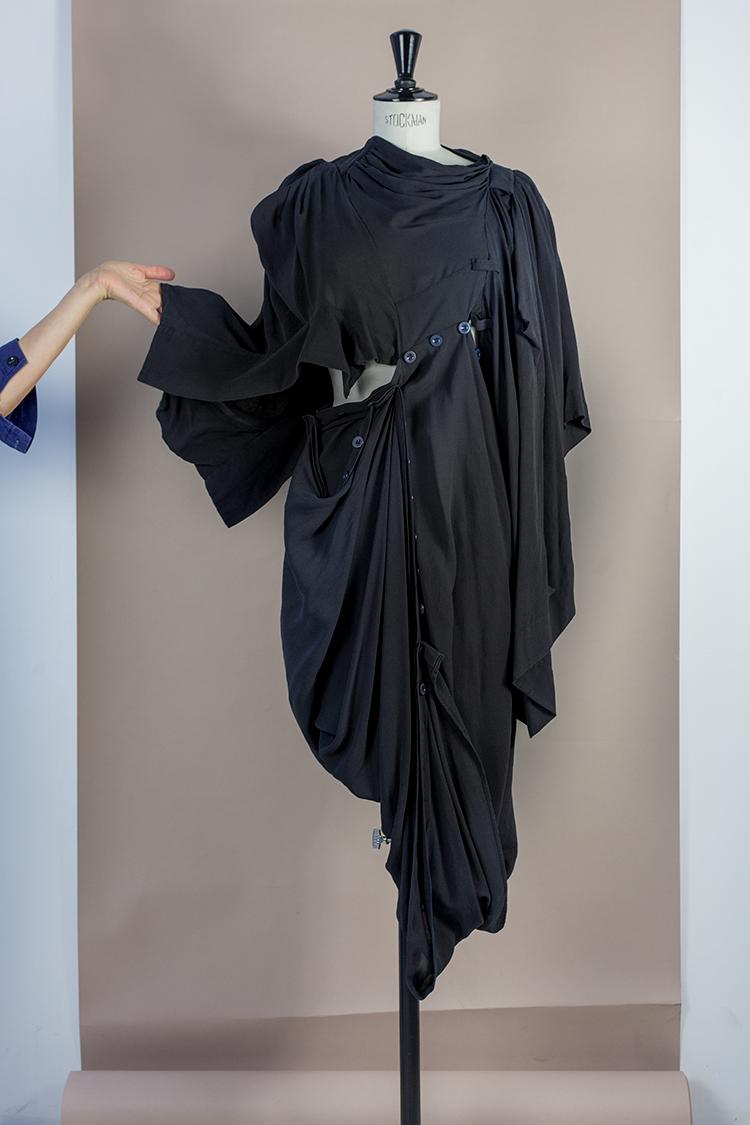 DRESS Black Phase Collection SS16 Black Wash Archive ADAPTABLE DECONSTRUCTED PRINCESS DRESS Dress-Ltd
