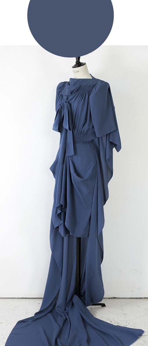 FLAT PACK SCULPTURE HALF MAXI/ CERULEAN BLUE