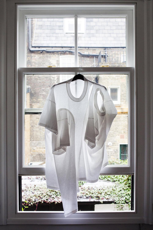 DRESS SUPERBASICS Single Breasted Carrier T (Adult/Child) in White #dressltd