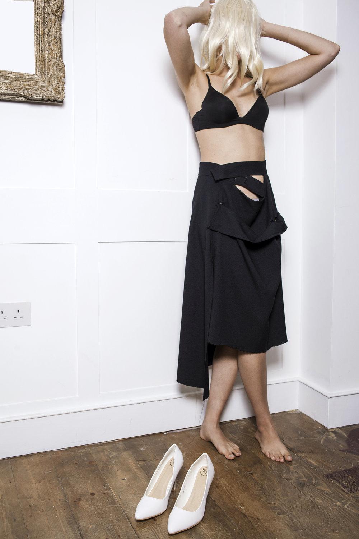 DRESS SUPERBASICS Broken Little Black Skirt #dressltd