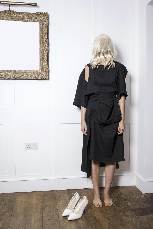 DRESS SUPERBASICS Broken Little Black Flat Half Dress & Skirt #dressltd