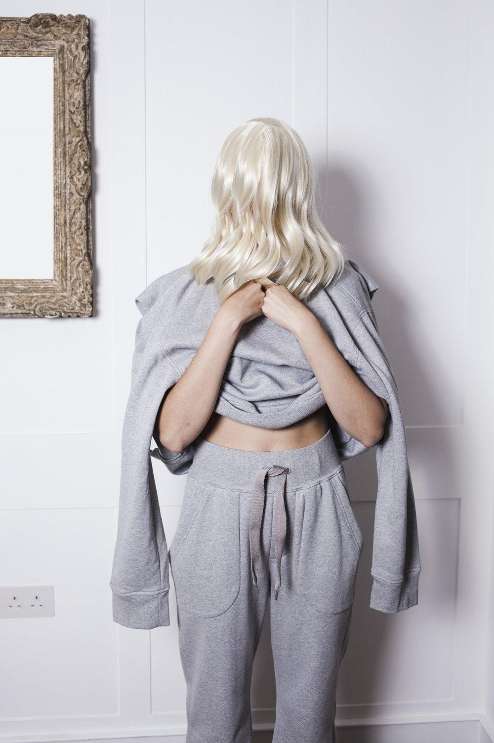 DRESS SUPERBASICS Inset Sleeve Flat Sweatshirt and Superbasic Joggers in Grey Marl #dressltd