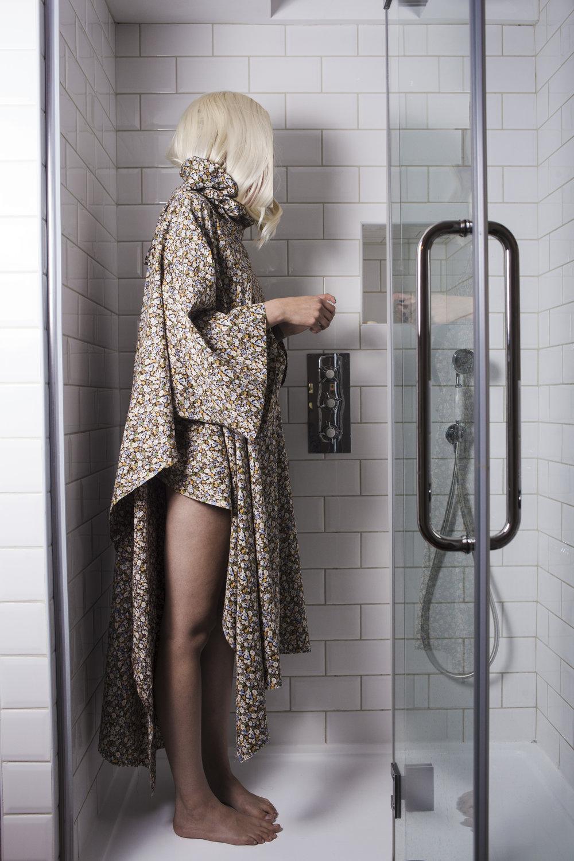 DRESS REHAB Super Size Flat Pack Hooded Cape Dress in Brown Floral #dressltd
