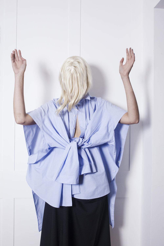DRESS 3 Headed Double Breasted Fertility Vest in White #dressltd