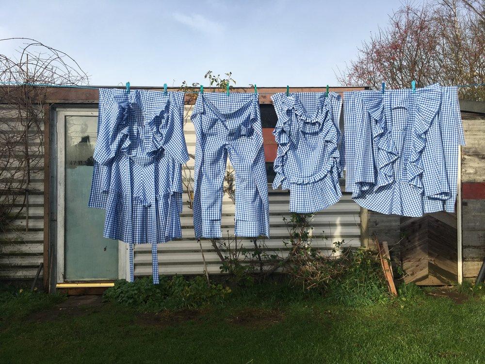 #dressltd Gingham Prairie Dress meets Tablecloth meets Pyjamas meets Pillowcase = Home Wear #makeyourself at home
