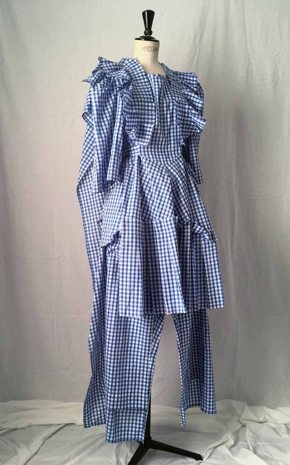 DRESS LTD Dorothy's Pyjamas Set 1: HALF APRON DOROTHY Dress & FLAT PACK PYJAMA Trousers - detail - #dressltd