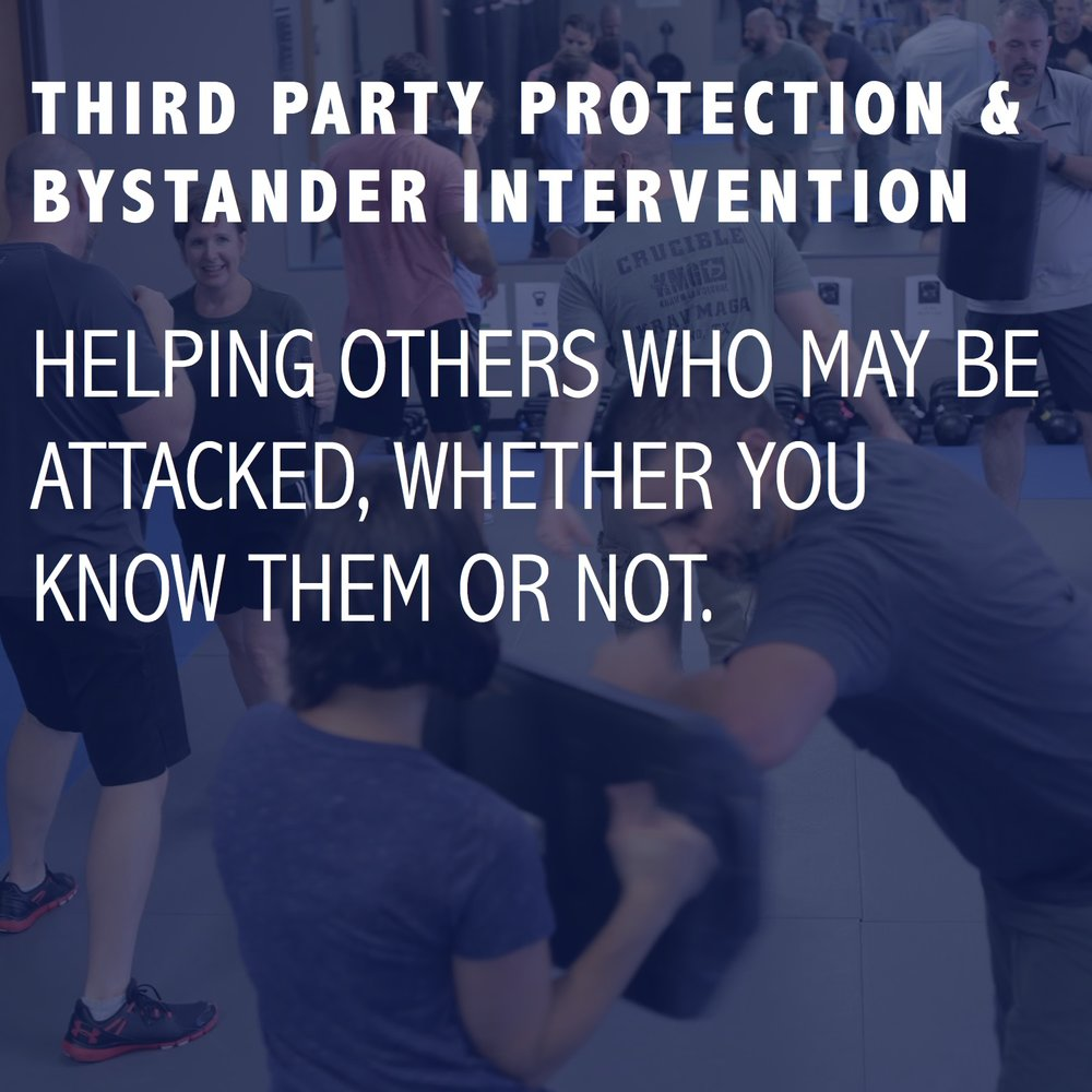 THIRD PARTY PROTECTION & BYSTANDER INTERVENTION