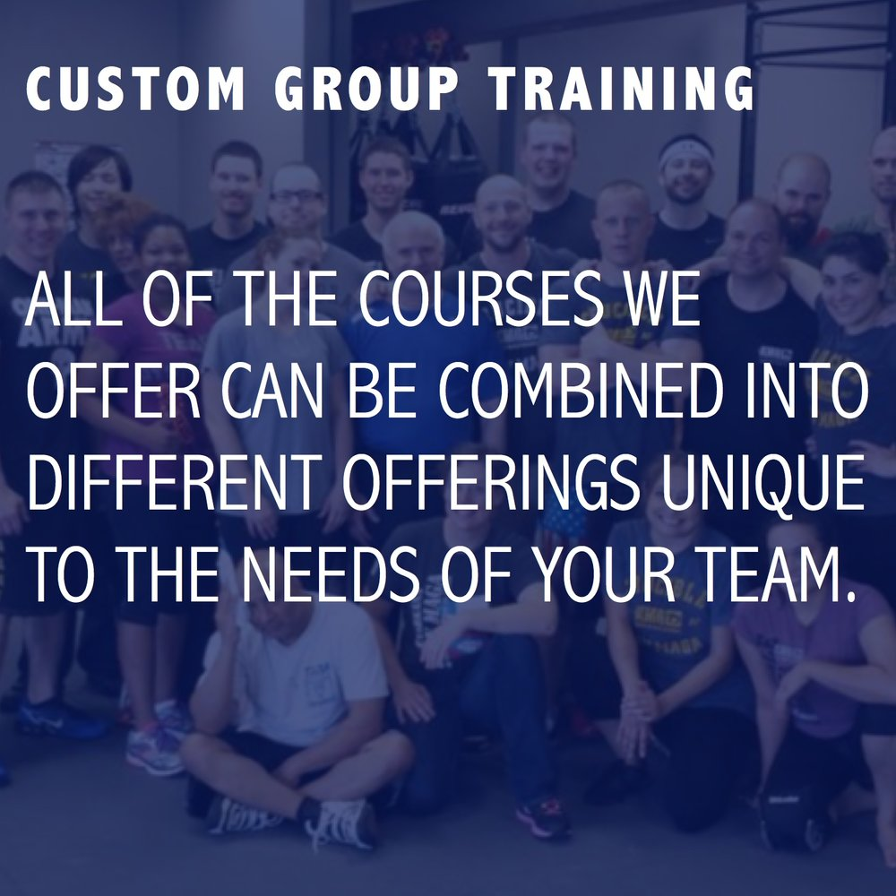 CUSTOM GROUP TRAINING
