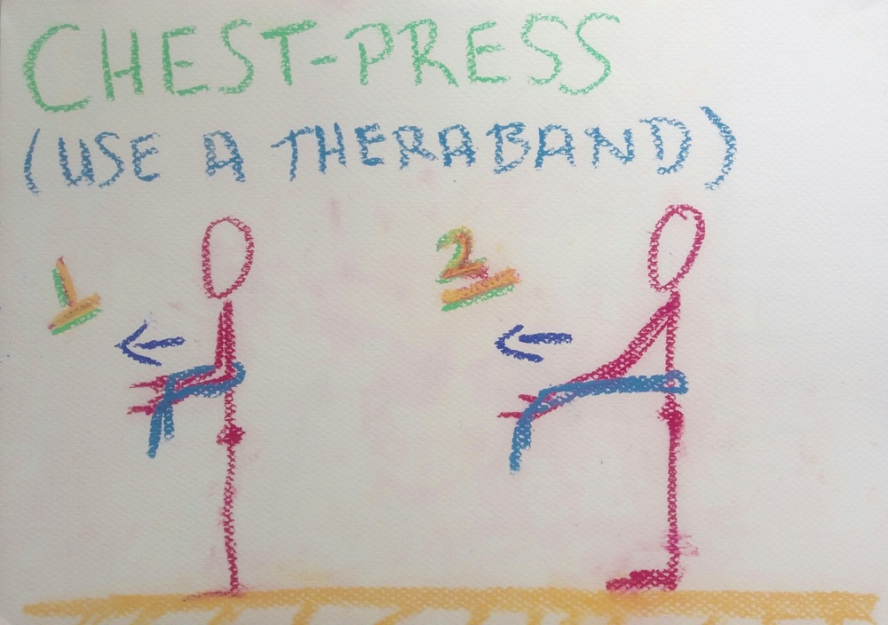 Chest-Press with Theraband