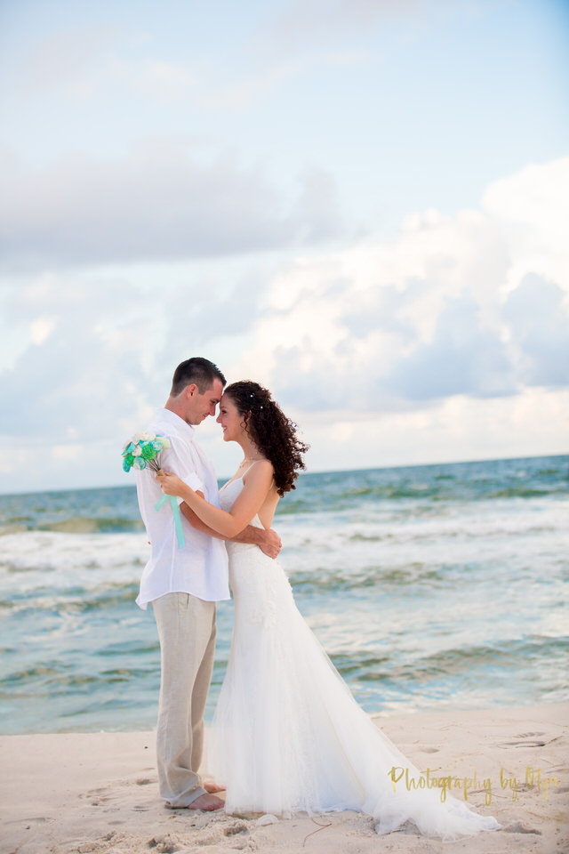 spa beach wedding