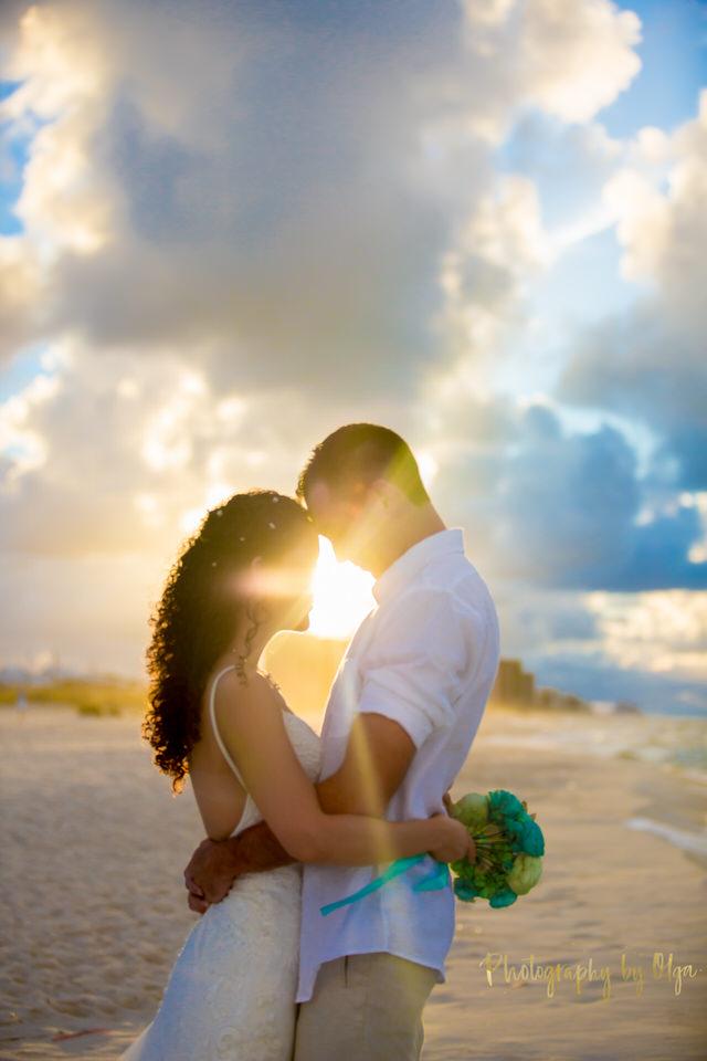 sunset beach wedding Alabama