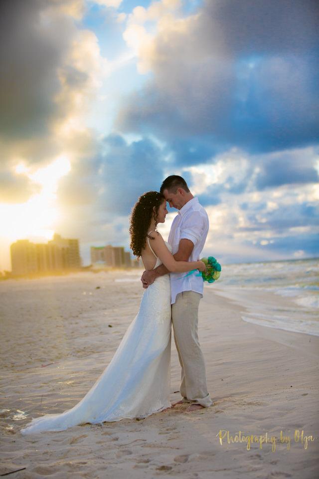 sunset beach wedding Florida