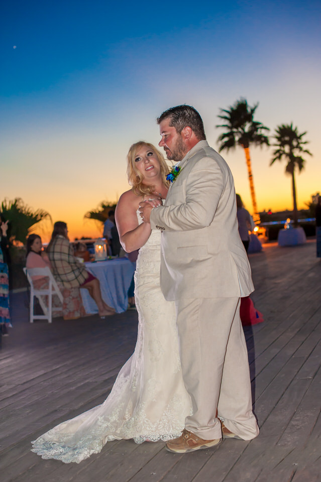 Sunsed beach wedding Alabama