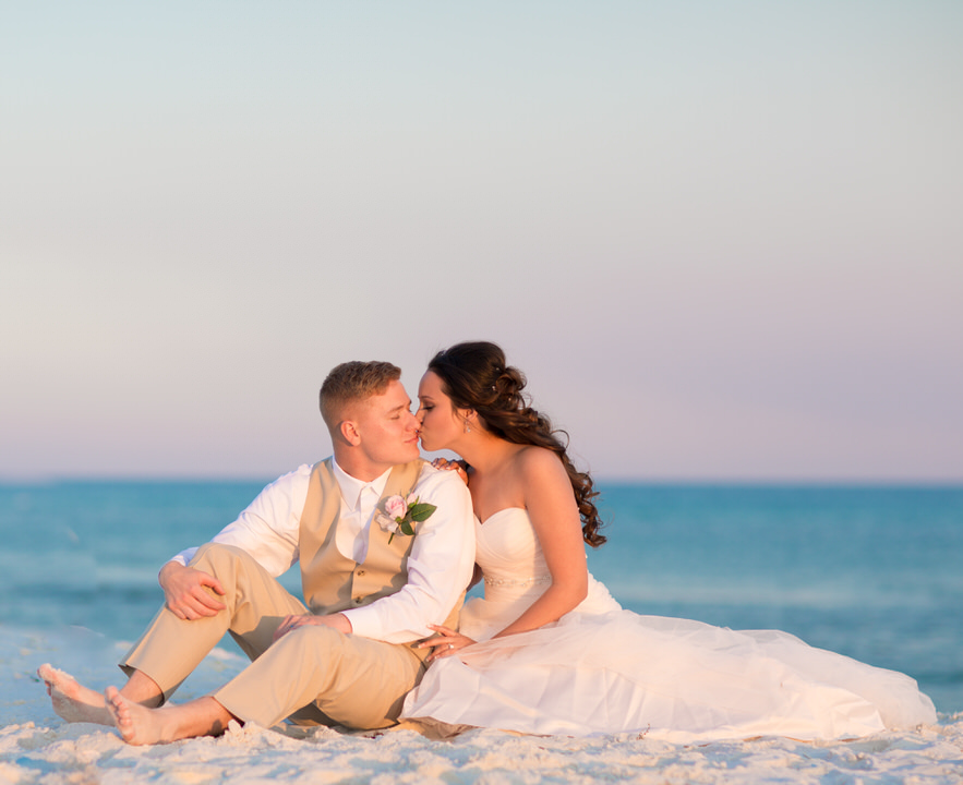 Happy moments in Pensacola Beach, Groom and Bride
