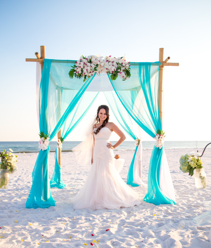 Princess wedding in Pensacola Beach