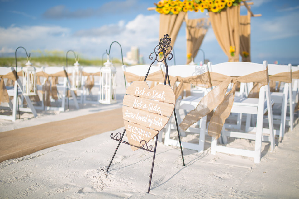 wedding setup sunflower