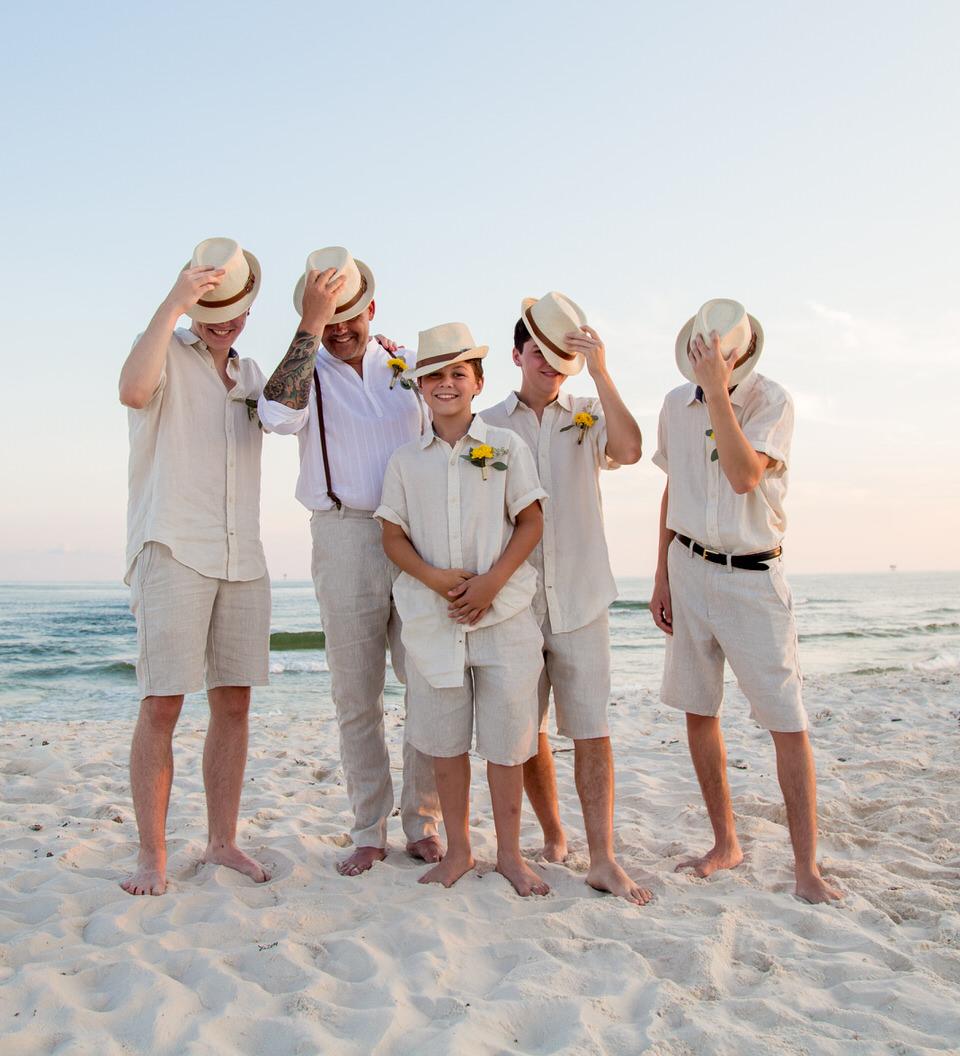 hats wedding