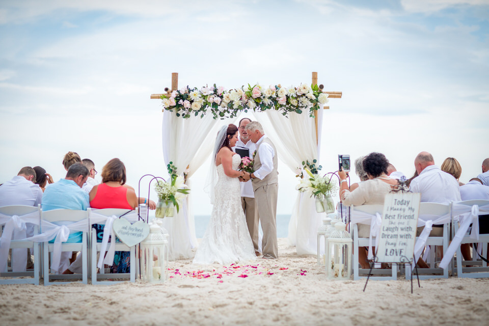 wedding at the ocean
