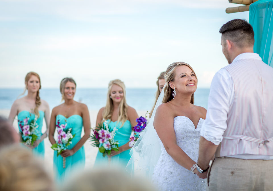 wedding ceremony at the ocean