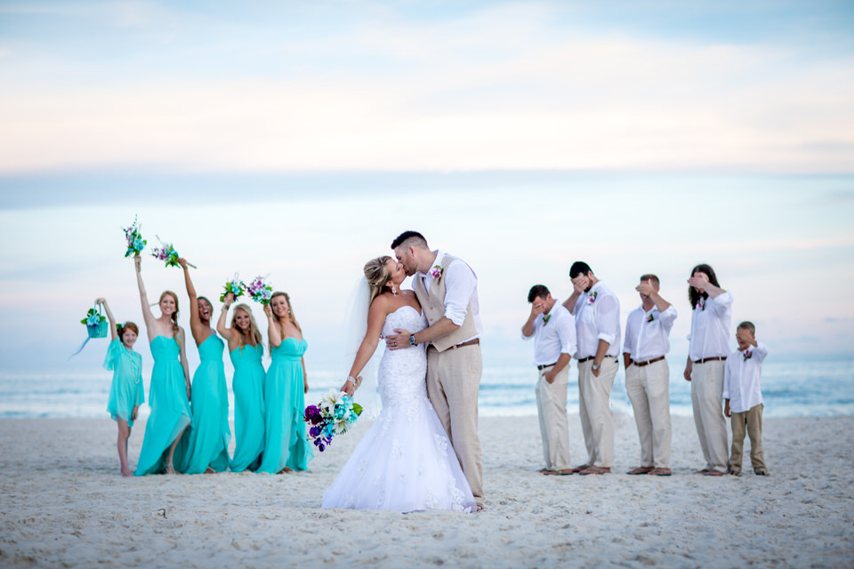 wedding bridal party in gulf shores alabama