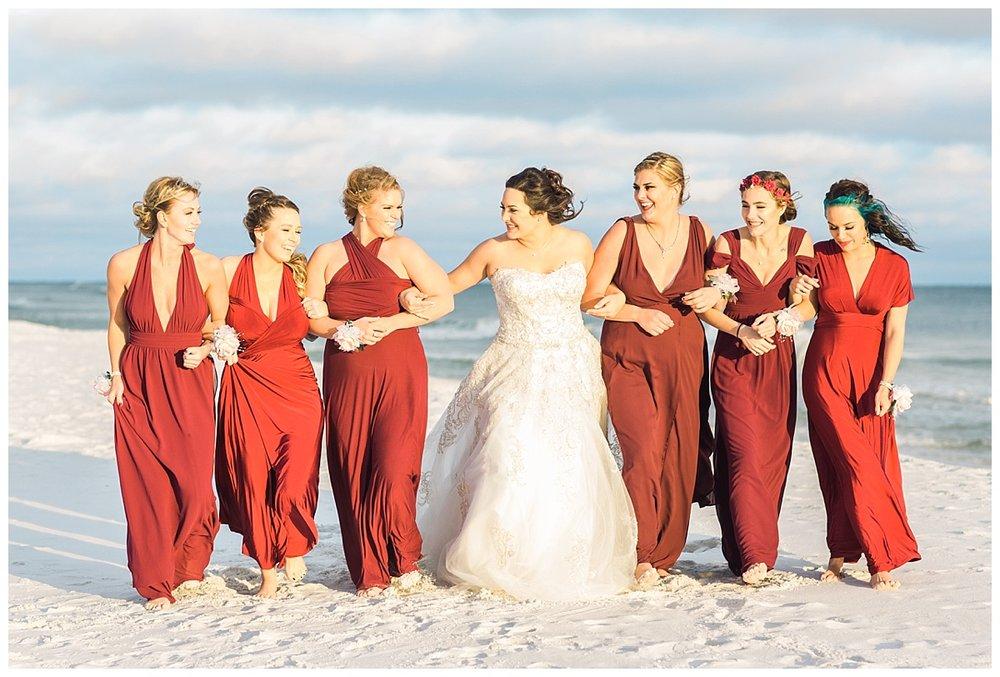 17 Walking Bridesmaids in Pensacola  Beach.jpg