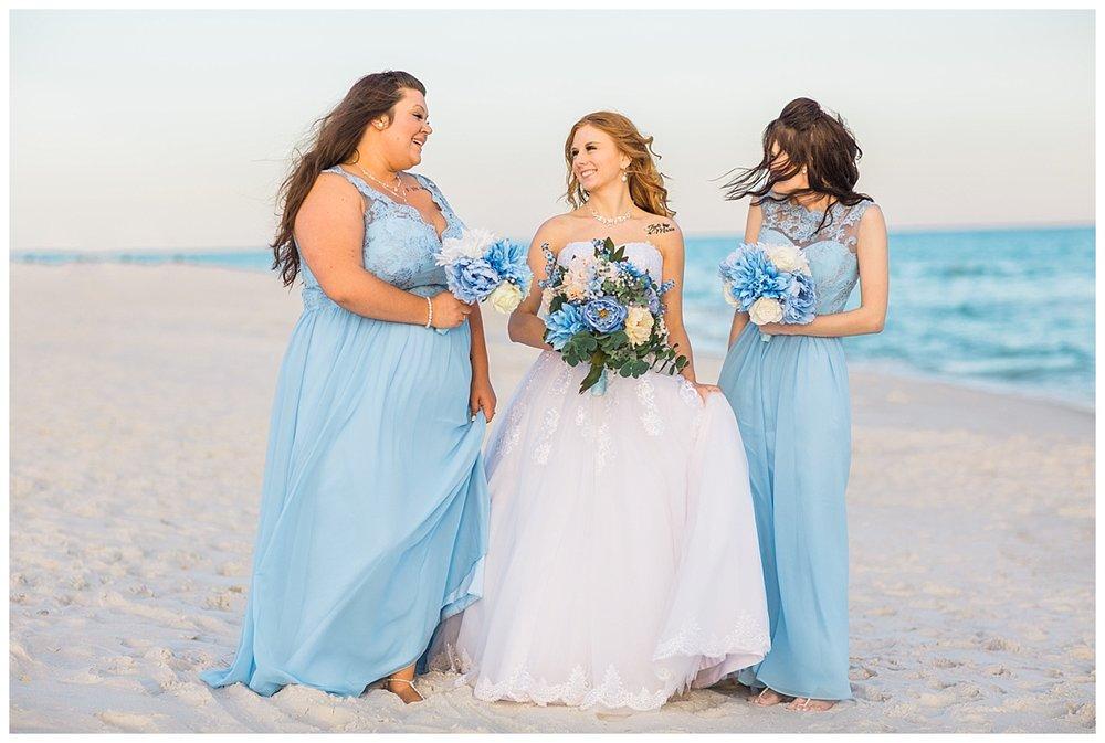 Beautiful Baby Blue Bridesmaids dresses
