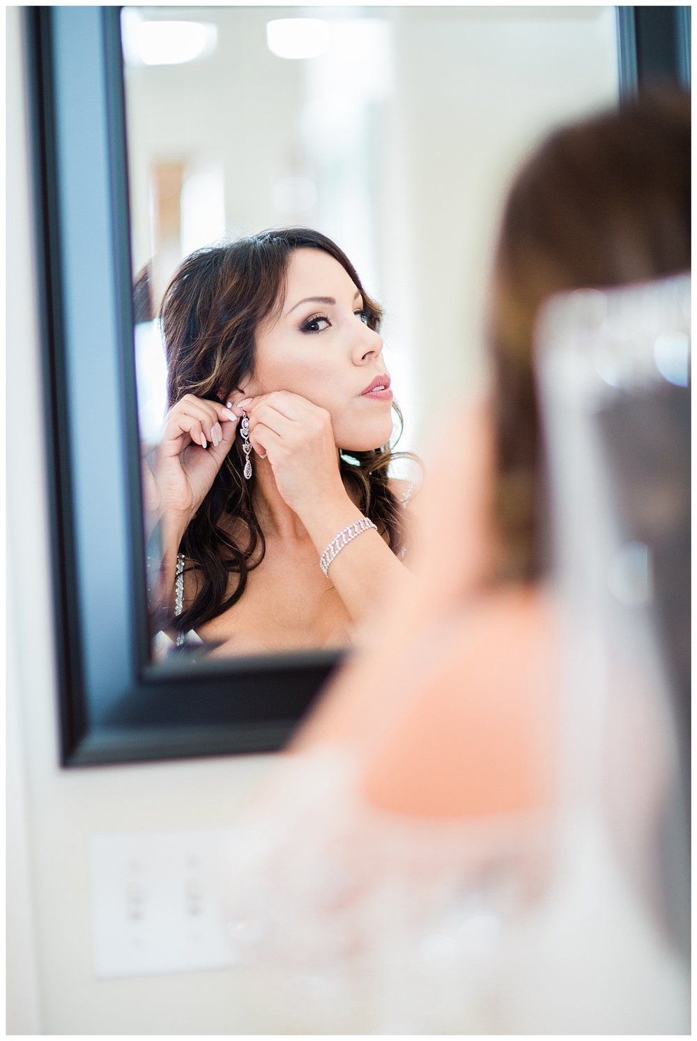 Bride Reflection in The Mirror
