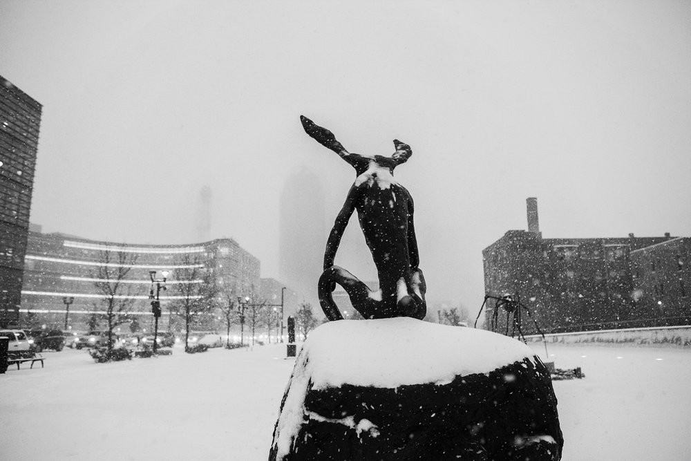 Thinker in Snow © 2015 Michael F. Hiatt