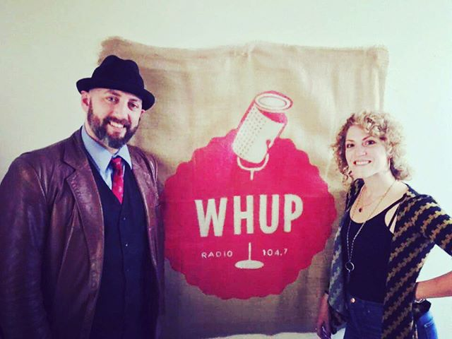 We had a great time on the air @whupfm with our boy Triangle Slim. We will be posting the session soon! #boxoflettersproject #tour #2016 💌