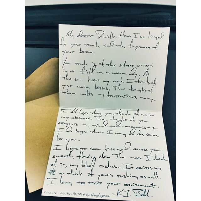 #Boxoflettersproject #tour #letter @GalleryLuperca #Nashville 2/12/16