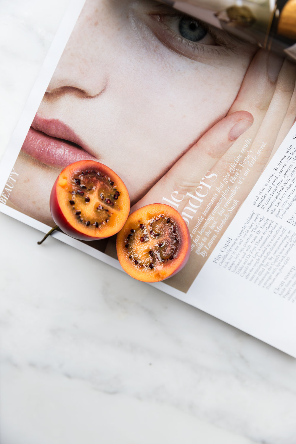 AVOID PREMATURE AGING WITH TAMARILLO  - DECEMBER 12,  2017Avoid premature aging with this delicious fruit, Tamarillo. Its content of antioxidants, vitamin A, C y E make tamarillo a shield against free radicals, delaying premature aging so our skin will be more beautiful and healthy...read more