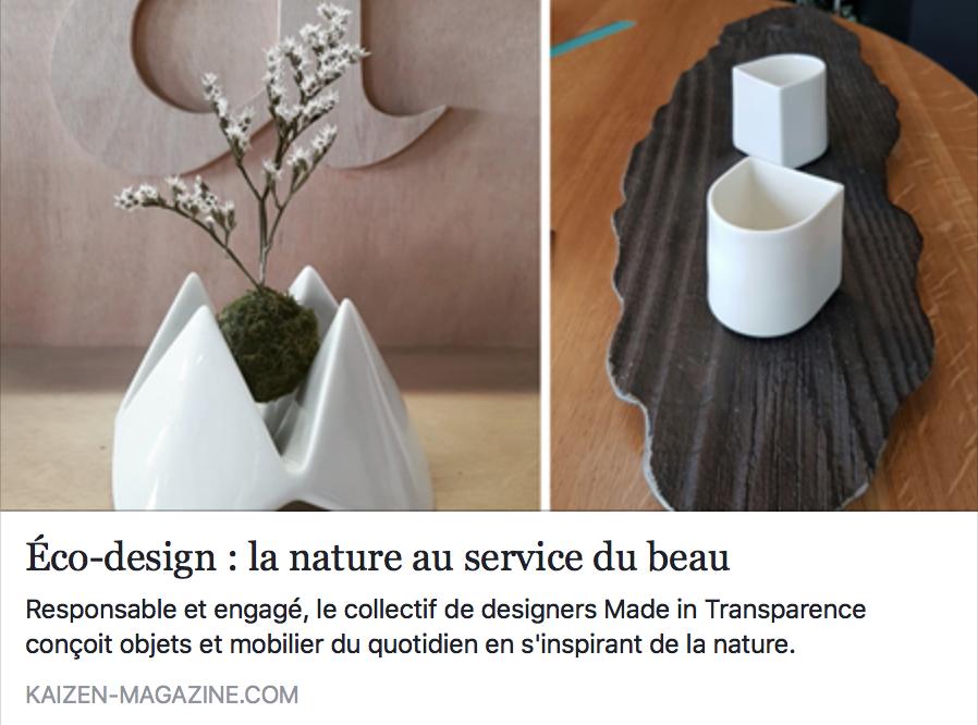 Pour lire l'article c'est par ici : http://www.kaizen-magazine.com/eco-design-la-nature-au-service-du-beau/