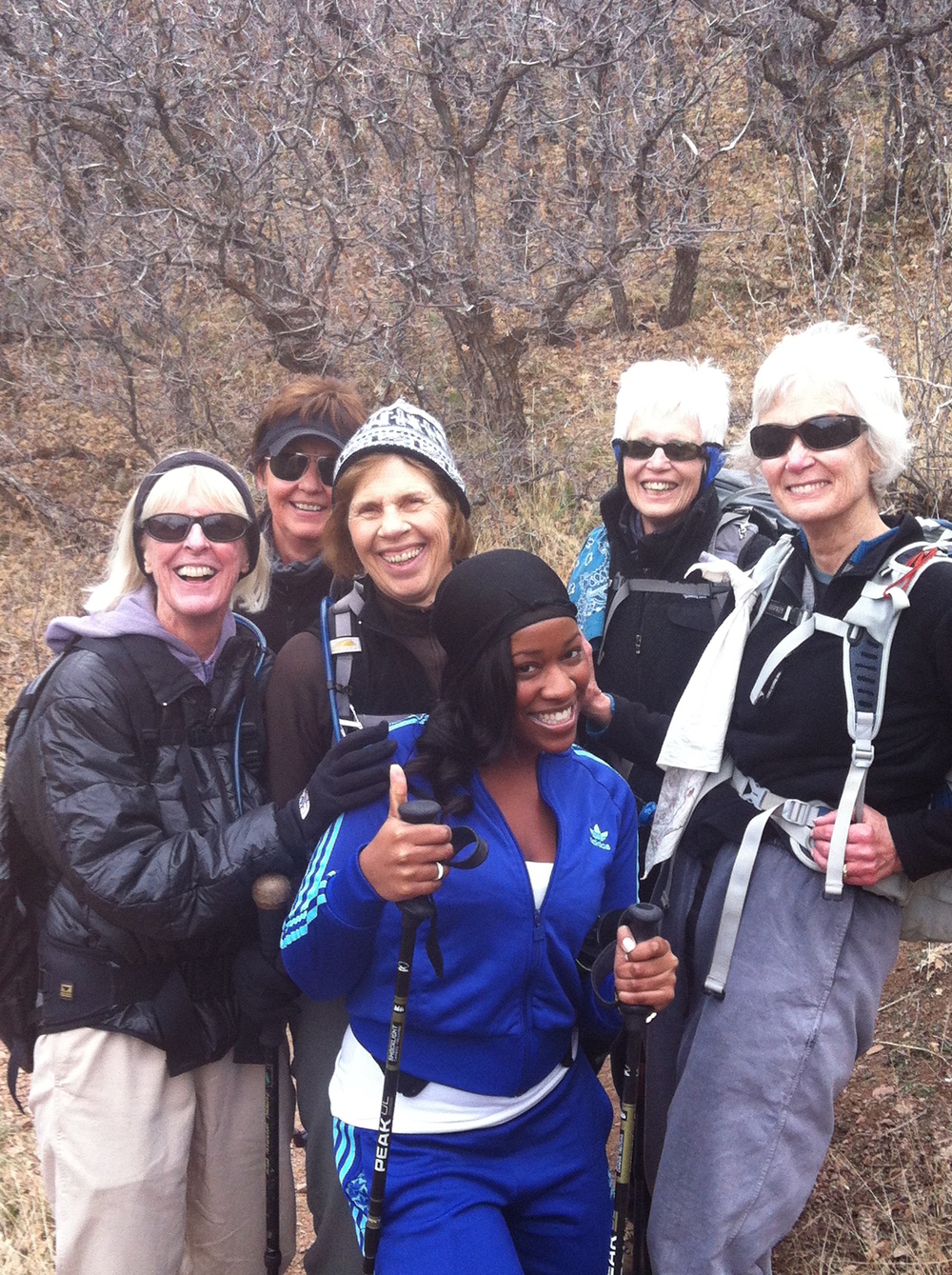 Me (dressed ALL WRONG) and some experienced hikers during a hike up Deer Creek Canyon Park, in Denver, Colorado- November 2012
