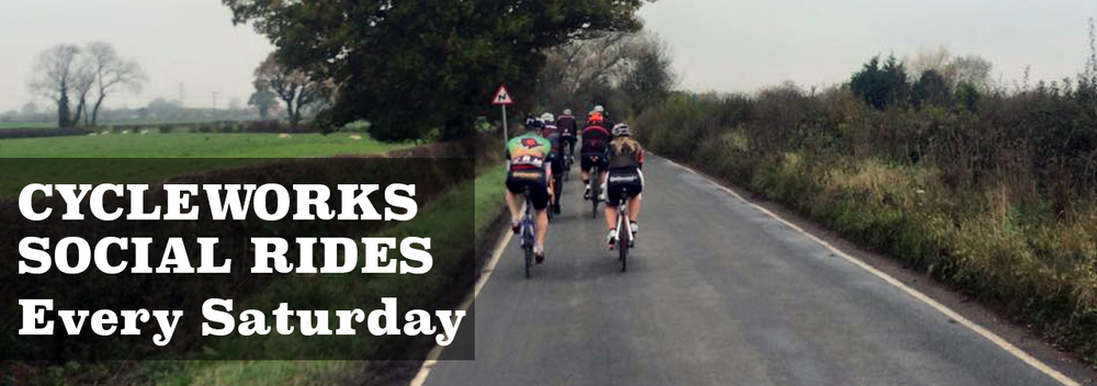 Cycleworks Social Ride Saturday's 9.30am