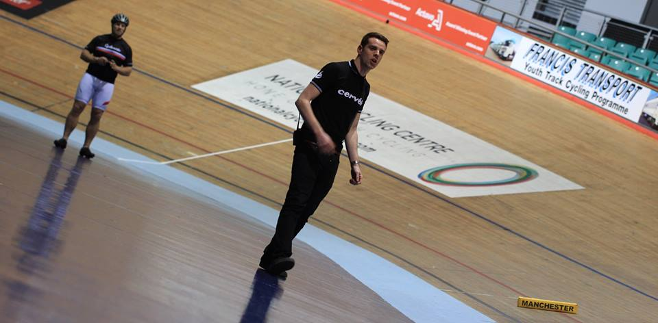 Rob coaching at Manchester Velodrome