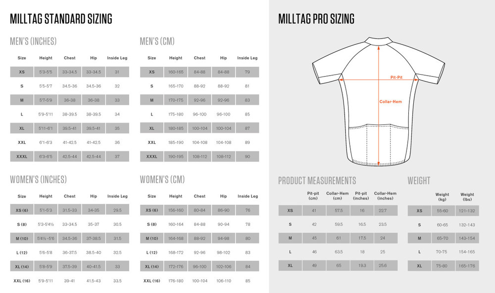 York Cycleworks Sizing CHart
