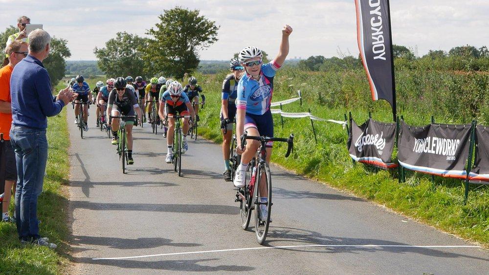 York Cycleworks Ladies Road Race Winner.jpg