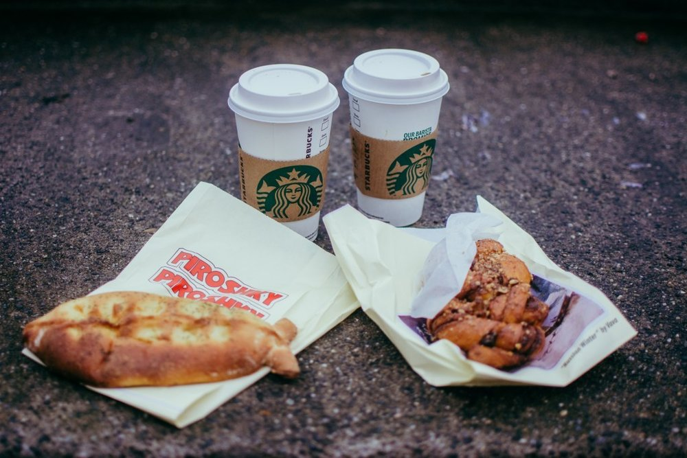 Starbucks + Piroshky Piroshky Bakery make for a perfect Seattle Snack pairing - don't you think?
