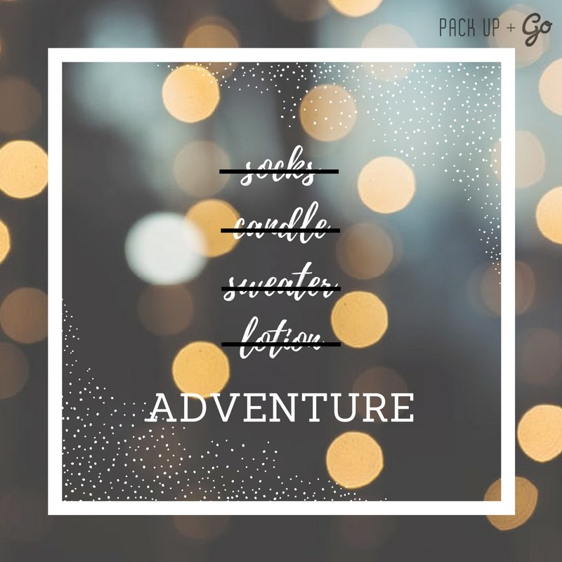 This year don't give another pair of socks, give the gift your loved ones really want, the gift of adventure!  A Pack Up + Go gift card is the perfect way to encourage the adventurous souls in your life to embrace spontaneity!  Sign up today for your own trip or make someone's holiday by buying them one:  http://bit.ly/GiftCards17