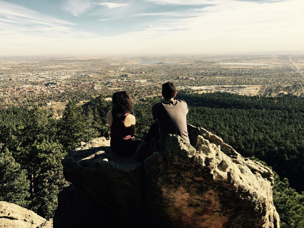 The team hiking in Boulder, CO!